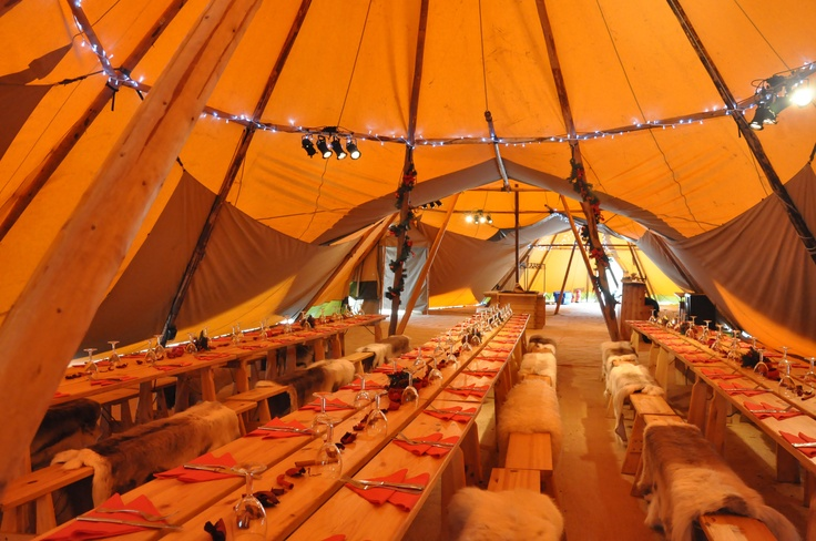 Christmas tipi party styling