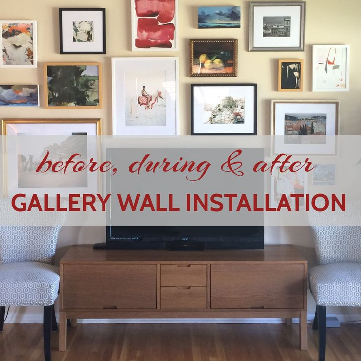 Gallery Wall Installation Before After InstallationLiving Room ArtHow