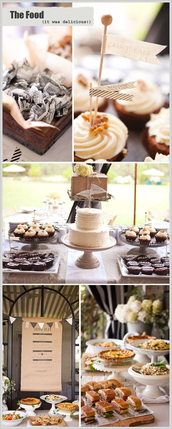 The Desserts!  Tiffany's baby shower! #vintage #typography