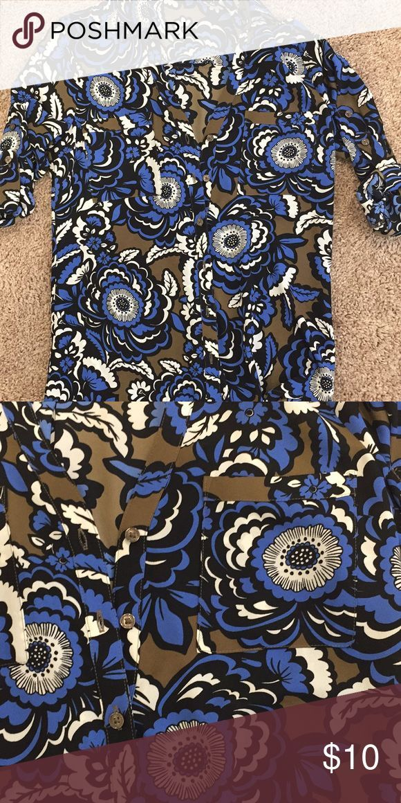 Express Portofino Shirt Floral Express Portofino Shirt with roll up sleeves.  NW… – Edilin Grillen