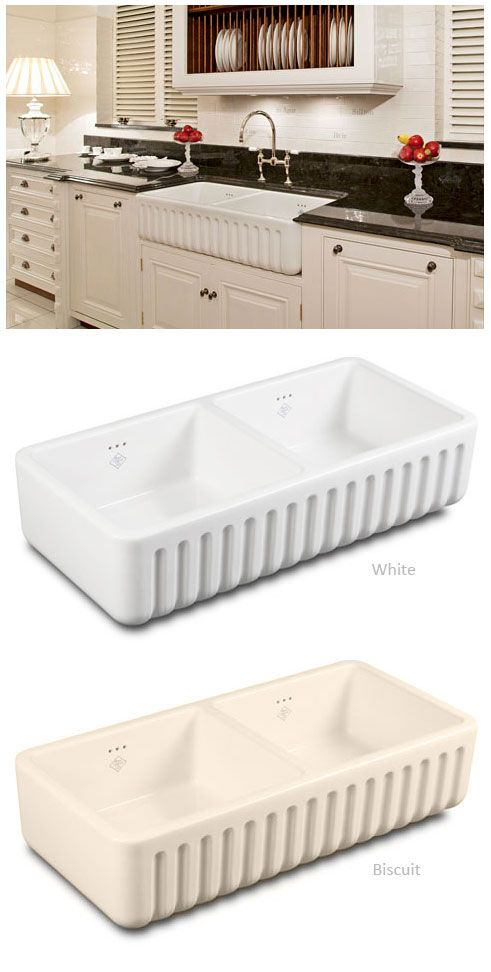 "Shaws RIBCHESTER 800 Belfast Sink £479 No tap hole: I would like the ""biscuit"" colour."