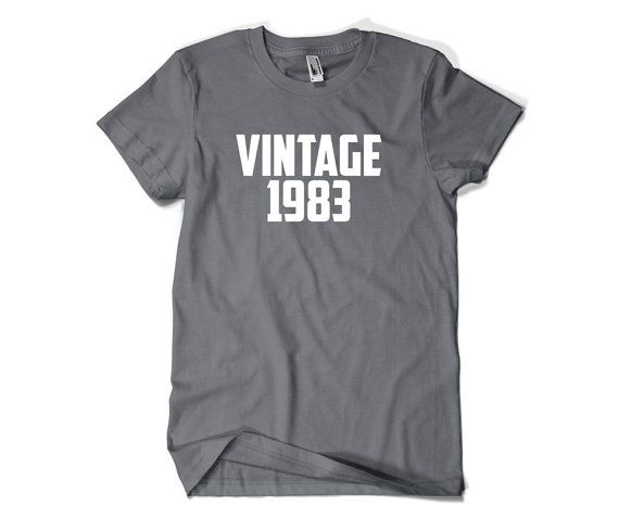 33rd Birthday Gift-Vintage 1983-33rd Birthday by SuperCoolTShirts