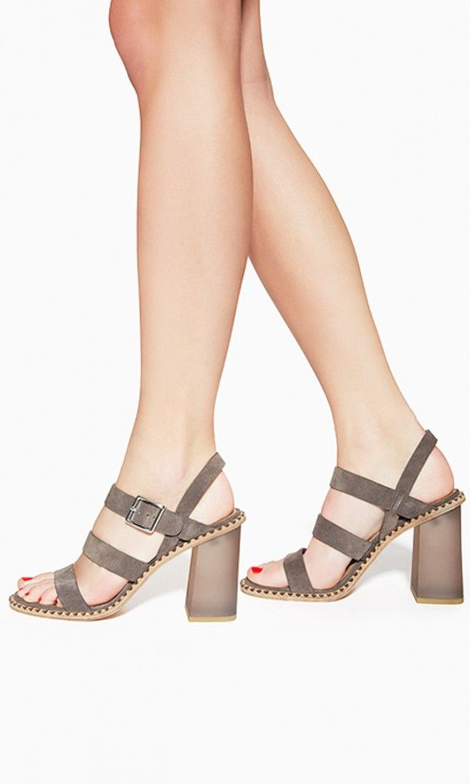 Anchored by a chunky heel and soft suede straps, these sandals are every bit as comfortable as your favorite flats.