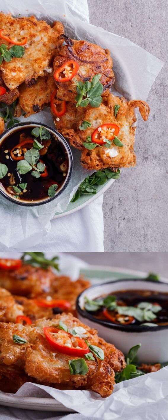 Onion and feta fritters with sweet chilli soy dipping sauce + Win a cheese hamper