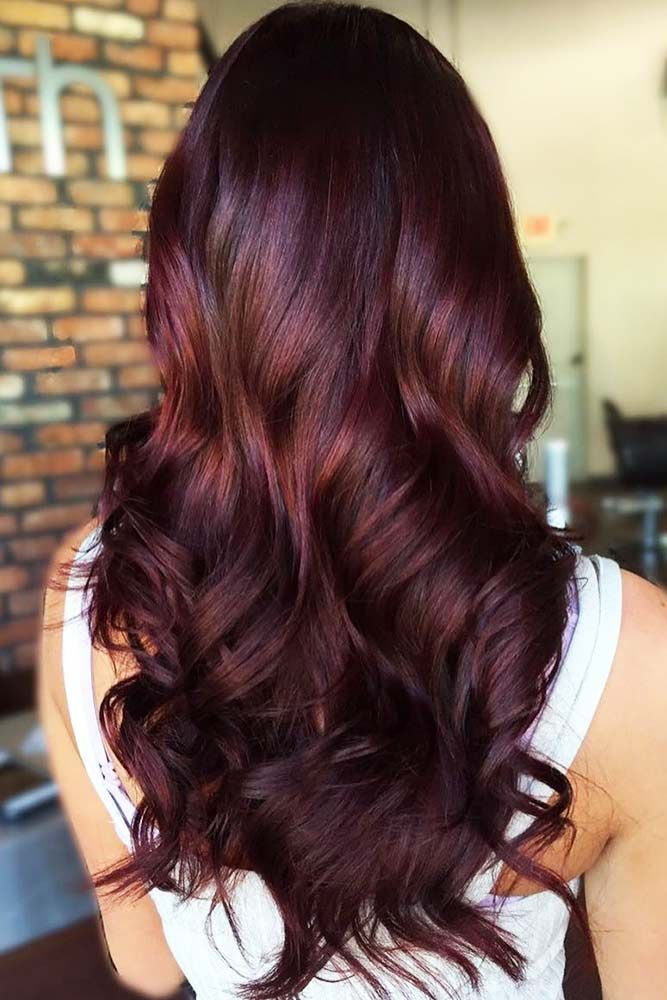 The Most Popular Shades Of Dark Red Hair For Distinctive Looks ... 738063507227