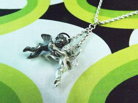 Cupid Pendant Guardian Angel Necklace Cherub by BonTonContemporary
