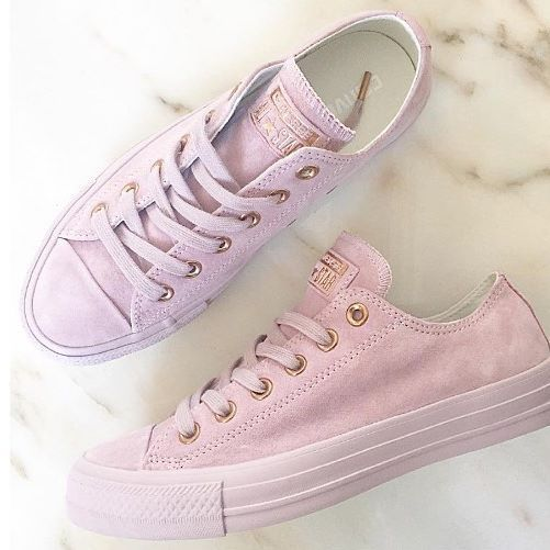 Restock Alert! RG: @danielle_magson feat our @converse #exclusive All Star Low Leather in burnished lilac rose gold. #restock #converse #regram #officeloves