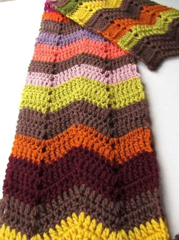 Crochet Zig Zag Scarf : Scarves, Knits Crochet, Kindergarten Teacher, Patterns Pdf, Zag ...