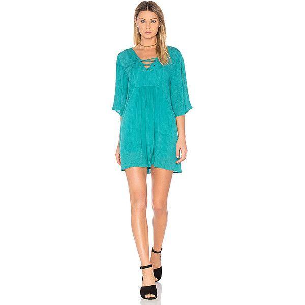 BB Dakota Jack by BB Dakota Becton Dress ($85) ❤ liked on Polyvore featuring dresses, blue dress, lace up front dress, laced dress, lace up dress and bb dakota dress