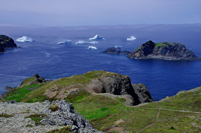 Scenery from the trail near the Long Point Lighthouse in Twillingate