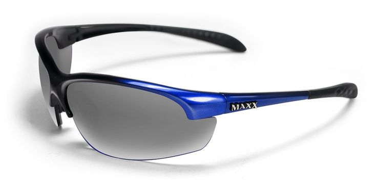 Maxx Sunglasses Domain Blue Frame Polarized Smoke Lenses