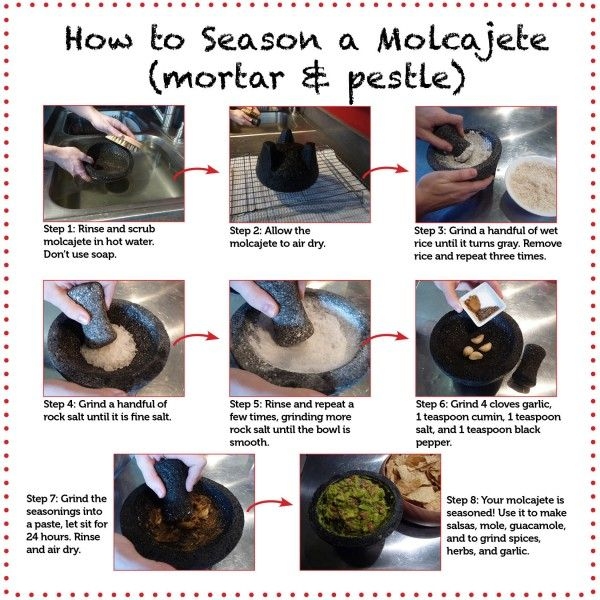 How to season a mortar & pestle
