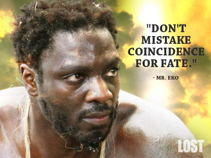 Mr. Eko was so cool, why did he have to die? Imagine him as the protector of the island!