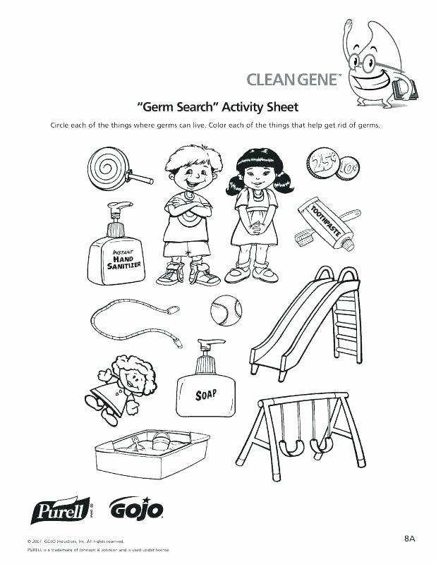 Germs Worksheets for Kindergarten Personal Hygiene