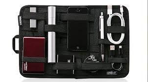 Органайзер для сумки * Длина резинки берется в расчете, что обложка в развернутом положении будет приблизительно длиной 20 см, а шириной 13 см.  - старая книга в плотном переплете (желательно из плотного картона или ткани); - черная прорезиненная ткань или материал под кожу; около 8 метров черной резинки;  - черные нитки;  - невидимки; швейная машина; клей; ножик X-Acto или лезвие; черная узкая ленточка для оверлочивания краев.