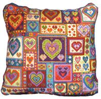 Animal Fayre Cushions Kit - Little Heart Patchwork