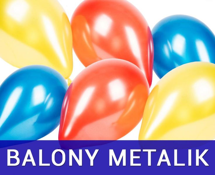 Balony z połyskiem metaliczne bez nadruku 300szt