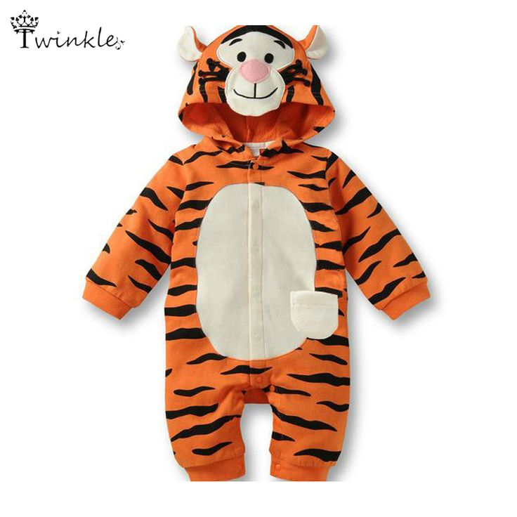 >> Click to Buy << Baby romper jumpsuit Cartoon tiger baby animal costume new born baby girl clothes hooded suit infantil newborn clothing unisex #Affiliate