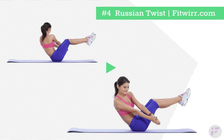 Ab Exercise Russian Twists