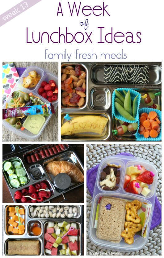 """""""A Week of Lunchbox Ideas"""" 
