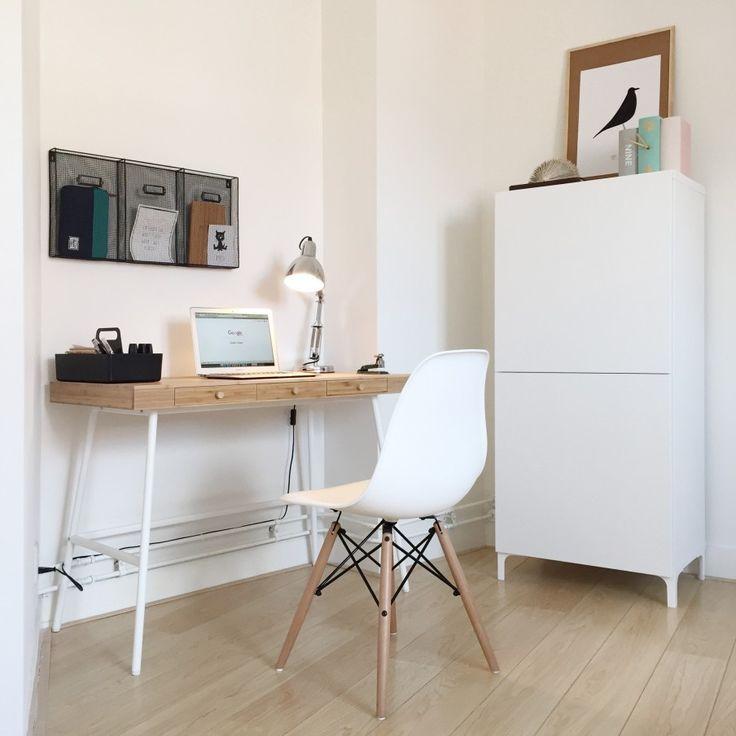 Cute werk studeer of hobbykamer Mijn kleine werkhoekje in de logeerkamer