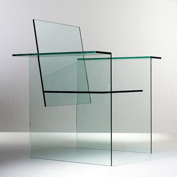 Shiro Kuramata designed Glass Chair 1976. @Deidra Brocké Wallace