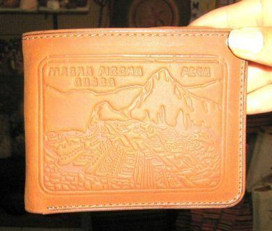 Hellbraune #Leder #Geldbörse aus #Peru.