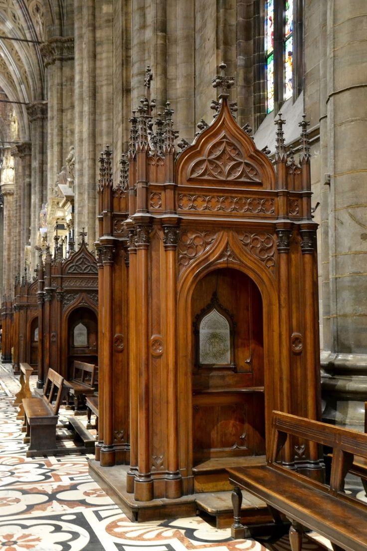 Confession booths at the Duomo, Milan, Italy by The Art of Creativity Studio