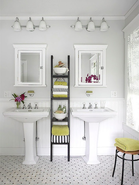 Pedestal Sinks With External Storage (rather Than A Vanity). Via My Design  Ethos