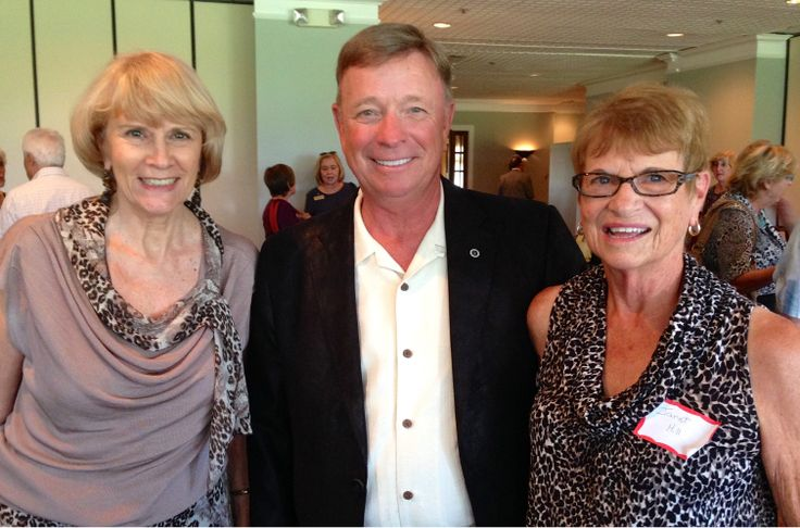 Elke Scott with Byron & Janet Hill at SaraBay Country Club for the Sarasota Sister Cities Perpignan luncheon on November 4, 2013