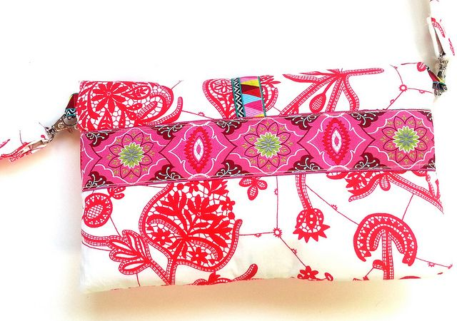 Fold Over Clutch with Amy Butler's Brocade Ribbon http://retail.renaissanceribbons.com/c/by-designer_amy-butler