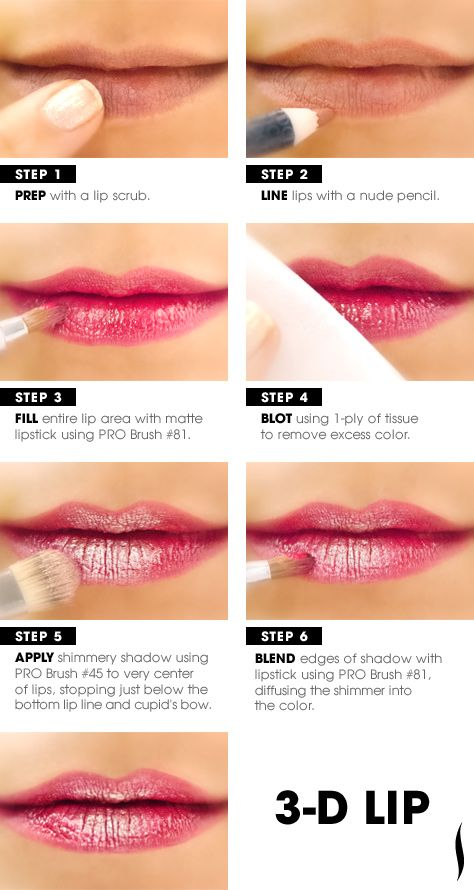 3-D, without the glasses. Learn how to create the dimensional lip look with this beauty how to #lips #Sephora