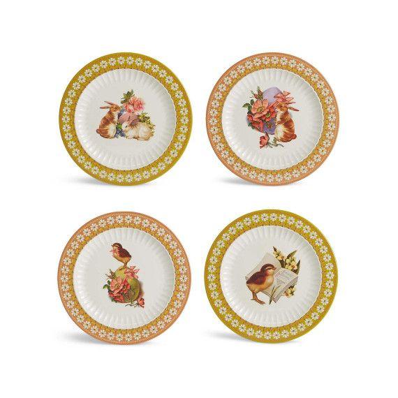 Set of 4 Easter Dinner Plates