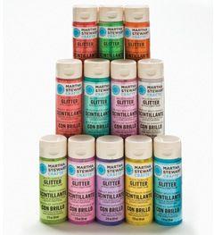 #Plaidonline.com #ChristmasCraftWishList Martha Stewart Crafts™ Paint Kit - Brights Glitter | Plaid Enterprises