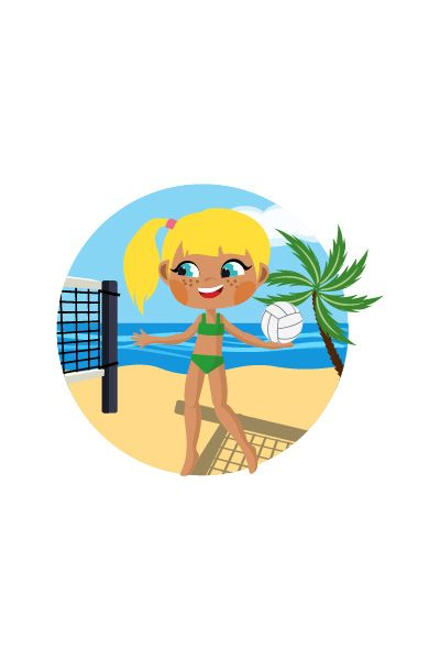 Kid Playing Beach Volleyball Vector Image #beach #volley #vector http://www.vectorvice.com/kids-activities-vector