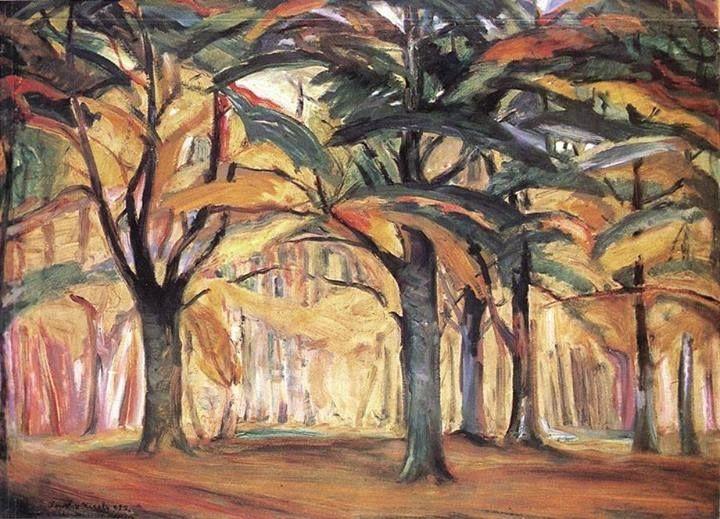 Kernstok, Károly 'Winter Pines' (1912)
