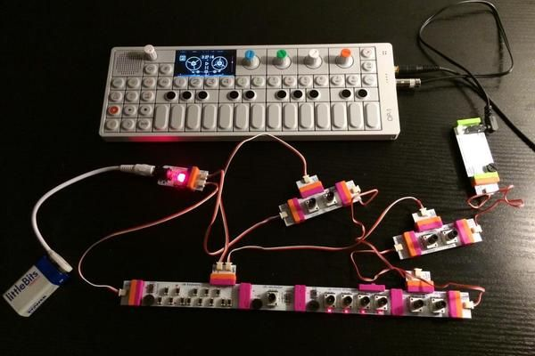"Check out this littleBits project! ""art et facts"" (synth kit multitrack recording)"