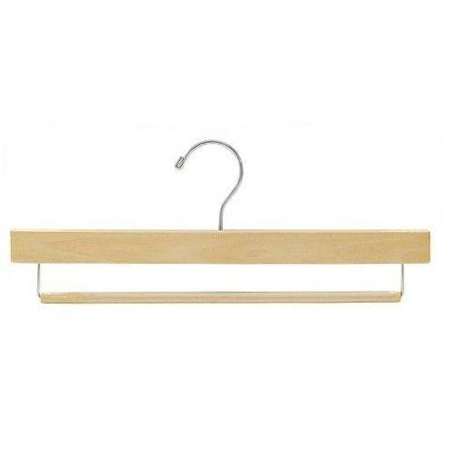 "Wooden Pant Hanger w/Non-Slip Bar (Natural), Finish : Natural, Hardware : Chrome, Length : 15"" Inch,  , Price : $53.95 (Bundle of 25 - $53.95) #Pant #Hangers #Closet"