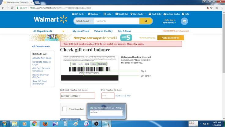 Get a gift card from 2 ways walmart gift