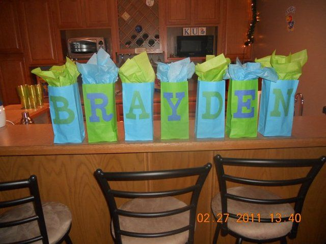 Cute gift idea. One present for each letter of your name!