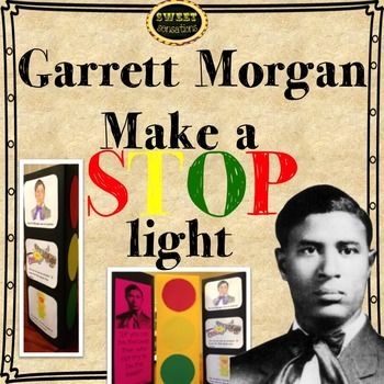 This craft activity is a great resource when studying black history or inventors.  Garrett Morgan is known for inventing the precursor to the yellow wait light.  Students make their own stop lights on a triangular prism and fill the other two sides with information.