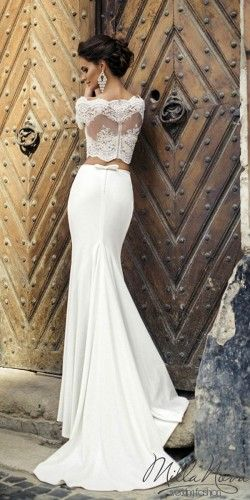 wedding dresses two pieces 12