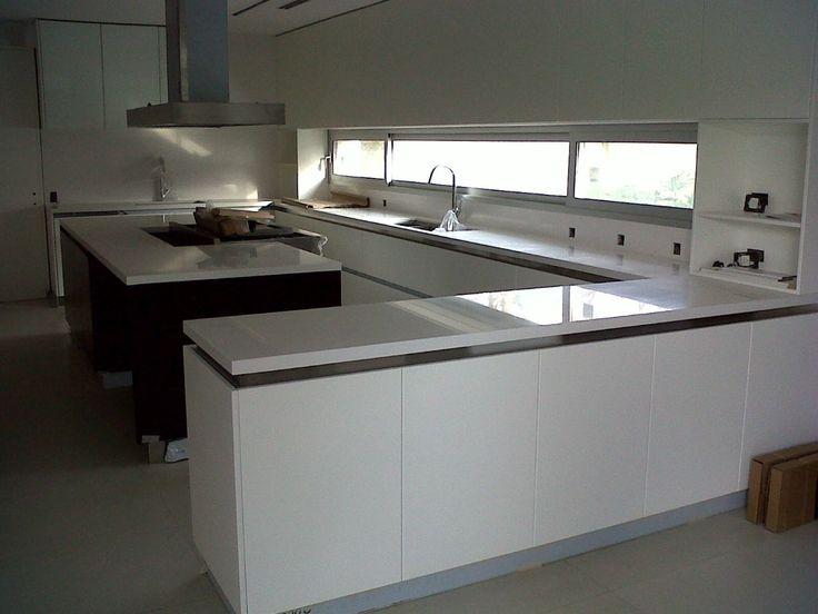 Zocalo silestone x metro lineal marmol granito for Marmol de carrara para cocinas