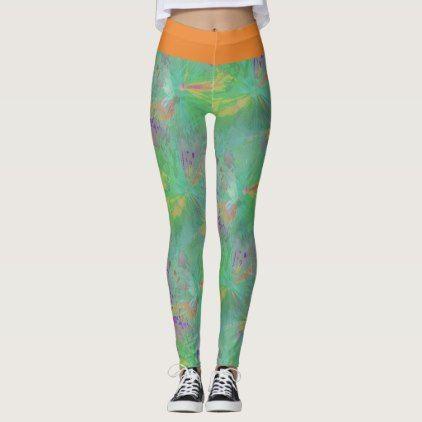 Yoga trousers buzzer green leggings - yoga health design namaste mind body spirit