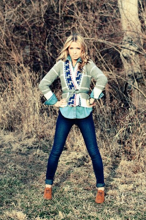 Fall Layers.: Denim On Denim, Autumn Outfit, Ankle Boots, Denim Shirts, Fall Looks, Fall Outfit, Cute Outfit, Fall Styles, Cozy Sweaters