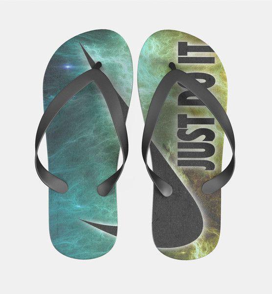Nike Just Do It Galaxy Nebula Flip Flops Men Women