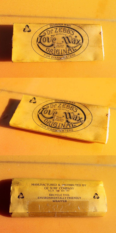 Wax 71166: Dr. Zebb S Love Wax (Sex Wax) Oz Au Australia Rare Surfing Vintage Surfboard Wax -> BUY IT NOW ONLY: $45.99 on eBay!