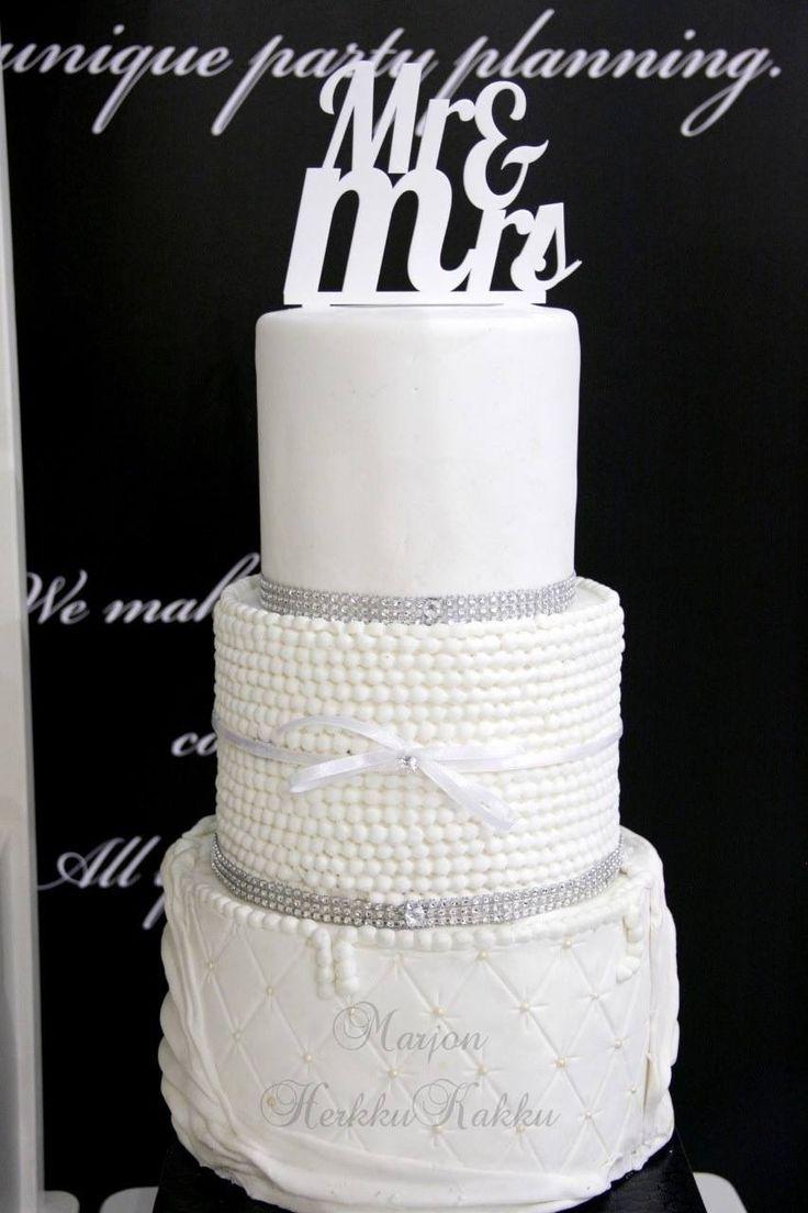 Wedding cake, white/bling