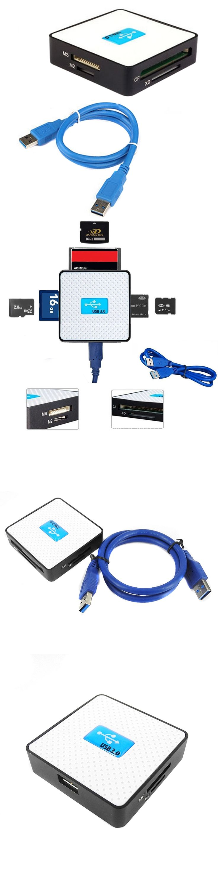 USB 3.0 All in 1 SD TF CF XD M2 MS Flash Memory Card Reader Adapter High Speed Memory Card Readers & Adapters