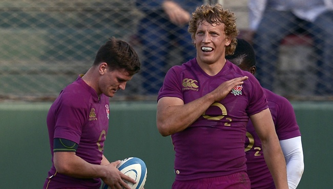 Gloucester Boys Shine in Impressive England Win in Argentina. Pictured: Freddie Burns & Billy Twelvetrees. #Gloucester #Rugby #England #Argentina